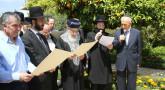 Birkat Ha-Ilanot : Rav Itshak Yossef chez Shimon Peres