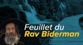 Feuillet du Rav Biderman, parachat Tetsavé 5779, à imprimer !