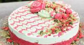 Recette : L'entremet fraise-pistache