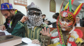 Pourim : enfants déguisés