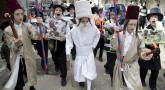 Pourim : enfants déguisés à Jerusalem