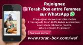 """Rejoignez """"Torah-Box entre Femmes"""" sur WhatsApp !"""