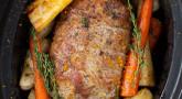 Recette : Rôti de veau aux légumes d'hiver