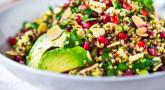 Recette Healthy : Salade de Quinoa aux herbes fraiches & grains de grenade