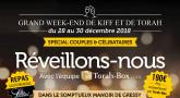 Plus que 21 chambres : week-end de fin d'année avec Torah-Box en France !