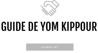 Guide pratique de Yom Kippour