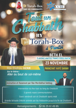 Tout un Chabbath made in Torah-Box à Pantin