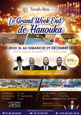 Week-end 'Hanouka avec Torah-Box !