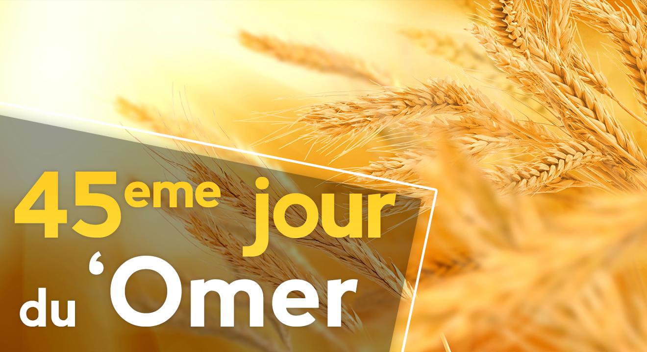 45ème jour du 'Omer du 'Omer