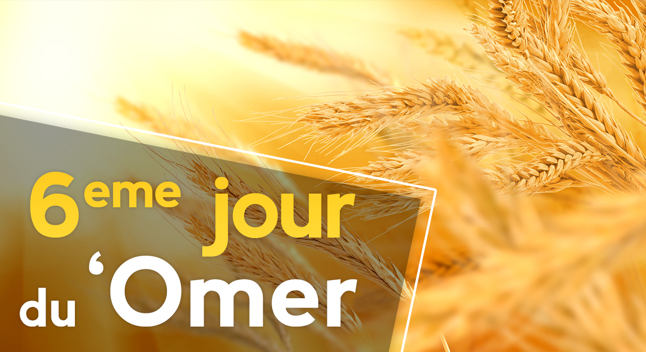 6ème jour du 'Omer du 'Omer