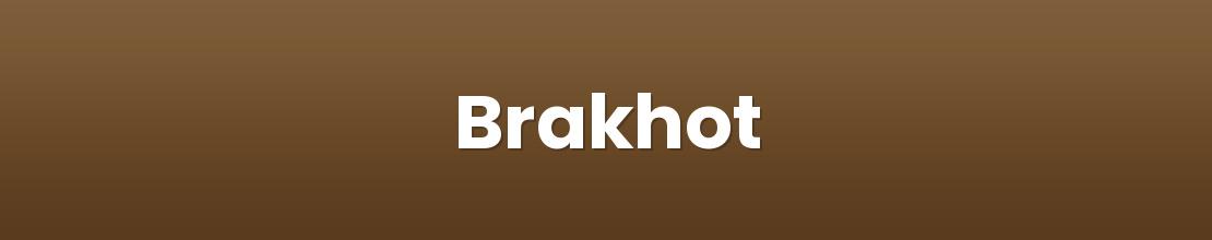 Brakhot