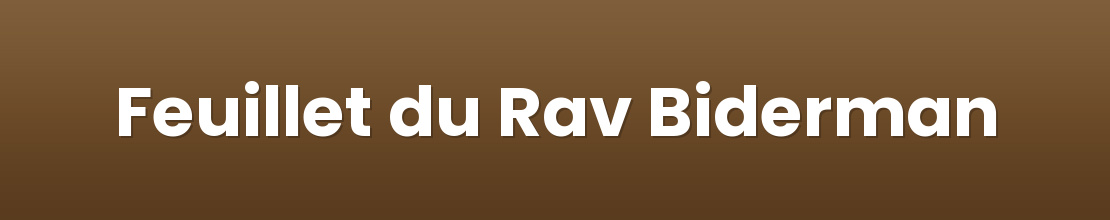 Feuillet du Rav Biderman