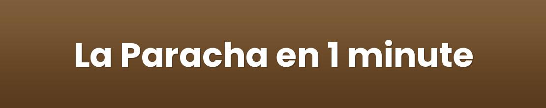 La Paracha en 1 minute