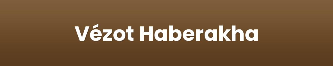Vézot Haberakha