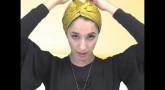 Tuto Foulard : Le turban satin prêt à enfiler