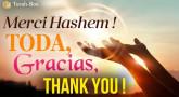 Merci Hachem ! Toda, Gracias, Thank you !